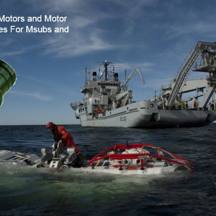 Thruster Motors and Motor Assemblies For Msubs and ROV's